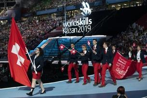 Opening ceremony WorldSkills with Swiss team